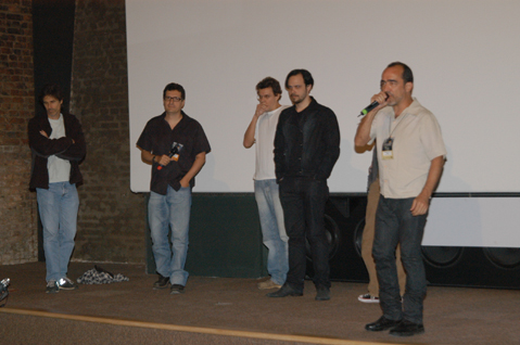 Walter Salles, Kleber Mendonça Filho, Gustavo Melo, Victor-Hugo Borges e Francisco César Filho