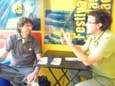 Diaulas Ullysses e William Hinestrosa conversando sobre a programação da itinerância em Diadema